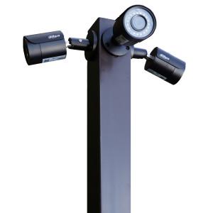 Комплект: столб + закладная деталь (основа) для монтажа с бетонированием в грунте